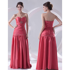 Custom Sheath Sweetheart Long Satin Evening Prom Dress for Women