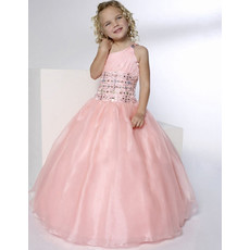 Ball Gown One Shoulder Floor Length Flower Girl Dress