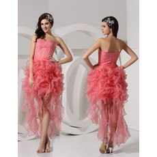 Sexy New Style Sheath Sweetheart Short/ Mini Organza Prom Dress