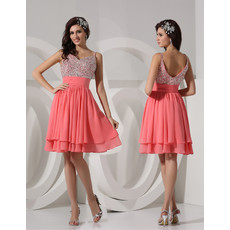 Sexy A-Line Sweetheart Short/ Mini Chiffon Homecoming Party Dress for Girls