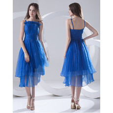 Fashionable A-Line Spaghetti Straps Short Organza Homecoming Dress