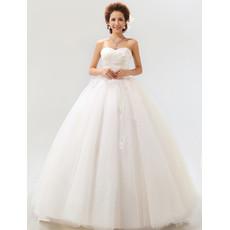 Modern Ball Gown Sweetheart Floor Length Satin Dress for Spring Wedding