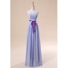 Elegant Sheath/ Column Sweetheart Chiffon Bridesmaid Dress for Summer Wedding