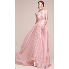 Affordable Sexy Empire Chiffon Sweep Train Prom Evening for Women