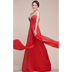 Discount Spaghetti Straps Chiffon Floor Length Prom Evening for Women