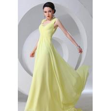 Affordable Sexy Chiffon Sheath Open Back Long Prom Evening Dress for Women
