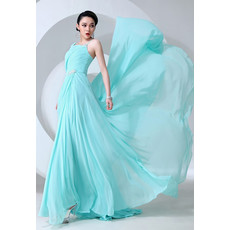 Affordable Amazing Asymmetric Chiffon A-Line Long Prom Evening Dress for Women