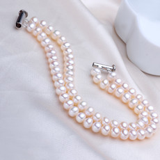 Classic White 5.5 - 6.5mm Freshwater Off-Round Pearl Bracelet