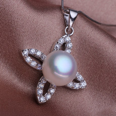 Stunning White Off-Round 10-11mm Freshwater Natural Pearl Pendants