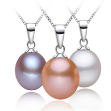 Beautiful White/ Pink/ Purple Drop 8.5-9.5mm Freshwater Natural Pearl Pendants