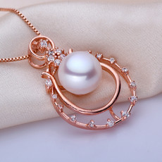 Lovely White/ Pink/ Purple Off-Round Freshwater Natural Pearl Pendants