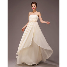 Stylish Strapless Empire Chiffon Floor Length Bridesmaid Dress for Wedding Party
