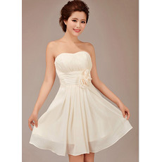 Designer A-Line Short Sweetheart Chiffon Bridesmaid Dress for Girls