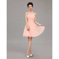 Beautiful Designer Halter Chiffon Short A-Line Cocktail Dress
