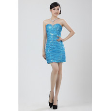 Women's Tulle Column/ Sheath Sweetheart Short Dress for Cocktail Party