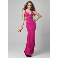 Sexy Mermaid/ Trumpet Floor Length Satin Evening Dress for Women and Girls