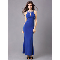 Affordable Sexy and Chic Sheath Satin Ankle Length Evening Dress for Women and Girls