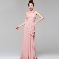 Women's Chic Lace Halter Column/ Sheath Ankle Length Evening Dress for Prom