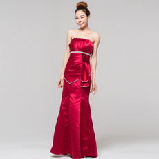 Affordable Sheath Mandarin Collar Short Sleeves Long Prom Evening Dress for Women
