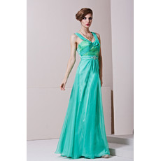 Sheath/ Column Round/ Scoop Floor Length Taffeta Formal Evening Dress for Women