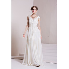 Affordable Custom Celebrity Chiffon Sweetheart Floor Length Column/ Sheath Evening Dress