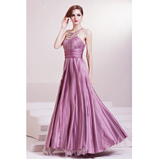 Inexpensive Beautiful Sexy Halter A-Line Satin Long/ Maxi Prom Evening Dress for Women