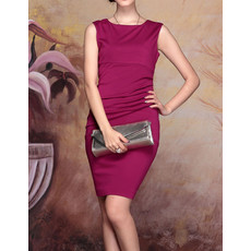 Stylish Modern Column/ Sheath Short Satin Bodycon Mother of the Bride Dress
