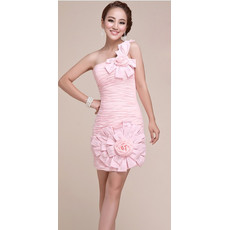 Pretty One Shoulder Short Column Homecoming/ Graduation Dress for Girls