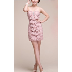 Chic Sweetheart Sheath Short Chiffon Homecoming/ Graduation Dress for Girls