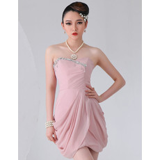 Beautiful Chiffon Short Sheath Sweetheart Homecoming Dress for Girls