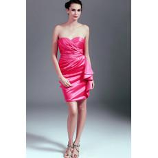 Beautiful Short Sweetheart Satin Column/ Sheath Junior Homecoming Dress