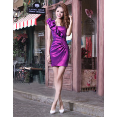 Discount Girls Sheath One Shoulder Short Cocktail Homecoming/ Party Dress