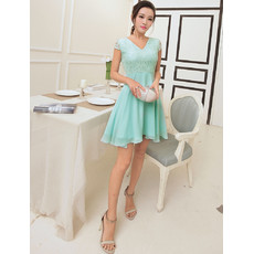 Discount Girls V-Neck Short Chiffon Cocktail Homecoming/ Party Dress
