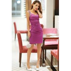 Girls Pretty Sheath Sweetheart Short Bodycon Satin Homecoming Dress
