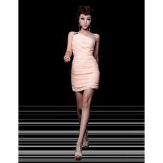 Girls Sheath One Shoulder Short Chiffon Homecoming/ Party Dress