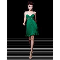Girls Best Empire Sweetheart Short Chiffon Homecoming Dress
