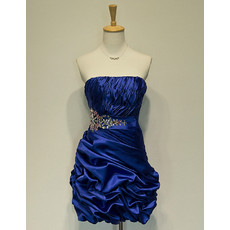 Inexpensive Classic Strapless Short Taffeta Homecoming/ Party Dress