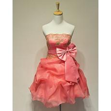 Inexpensive Girls Nice Strapless Short Taffeta Homecoming/ Party Dress
