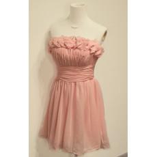 Beautiful Girls Strapless Short Chiffon Homecoming/ Party Dress
