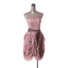 Girls Affordable Beautiful Strapless Short Chiffon Tiered Homecoming Dress