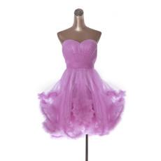 A-Line Sweetheart Short Organza Homecoming Dress