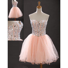 Girls Classic Sweetheart Short Organza Homecoming/ Party Dress