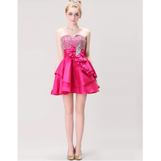 Affordable Sweetheart Short Satin Homecoming/ Party Dress