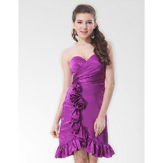 Affordable Sheath Sweetheart Short Homecoming/ Party Dress