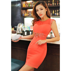 Tight Column/ Sheath Short Chiffon Homecoming Dress