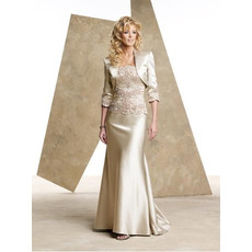 Mermaid Satin Mother of the Bride/ Groom Dress with Jackets