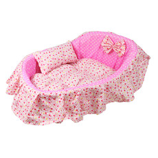 Pink Cozy Washable Pet Bed Dog Cat Puppy Soft Sleeping Bed 3 Sizes