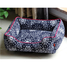 Soft & Cozy Washable Navy Printed Pet Mat Dog Cat Puppy Bed 5 Sizes