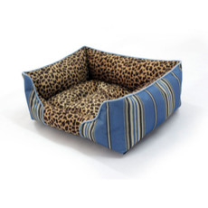 Red Soft & Cozy Washable Pet Mat Dog Cat Bed In Leopard Print 3 Sizes