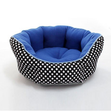 Blue Soft & Cozy Washable Round Pet Mat Dog Cat Puppy Sleeping Bed